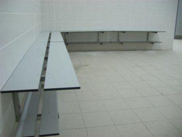 Banco Fenólico Simples à parede com Sapateira SP361