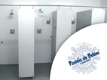 Pasteis de Belém - Cabines Sanitárias - Mestria Compactos Fenólicos